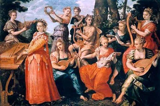 Apollo and the Muses, 1570 - Maarten de Vos