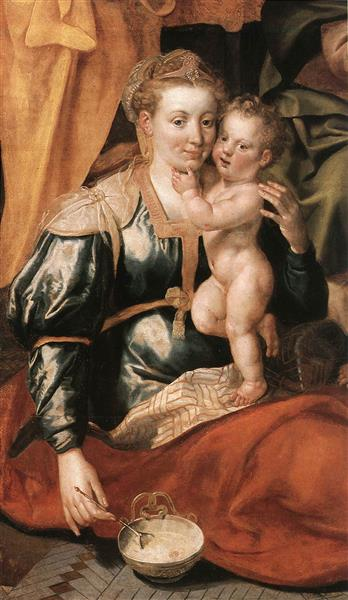 The Family of St Anne, 1585 - Maarten de Vos