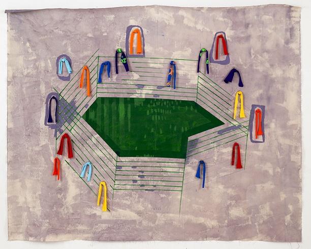 The Stadium (Pen/web), 2014 - Sharon Butler