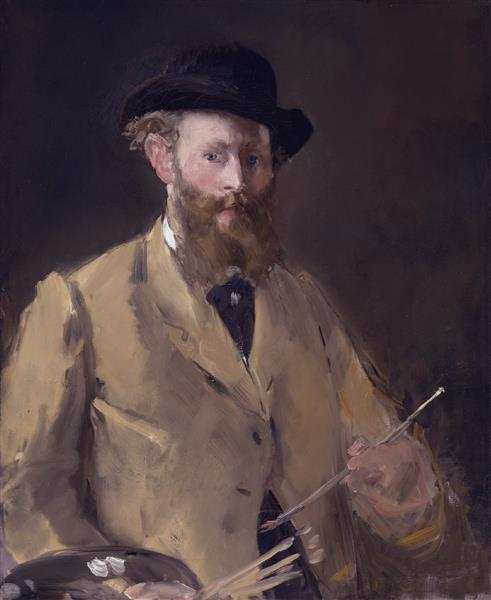 Self Portrait with a Palette - Edouard Manet