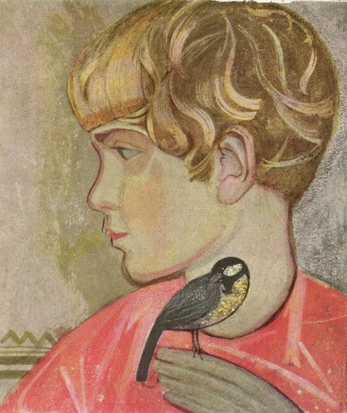 Boy with the Birdie - Fedir Krychevsky
