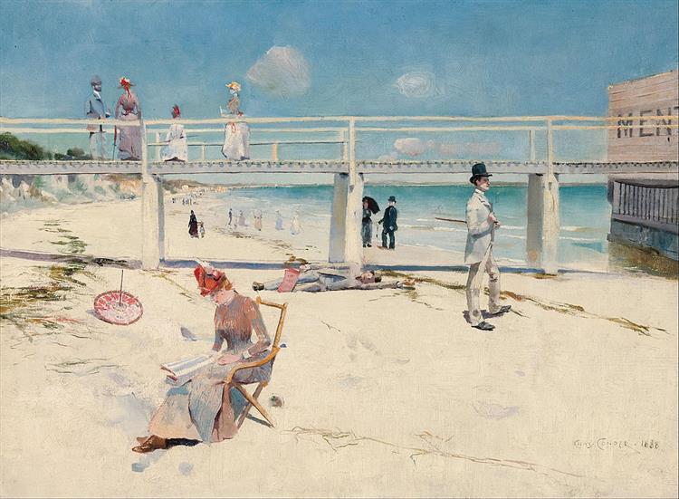 A holiday at Mentone, 1888 - Charles Conder
