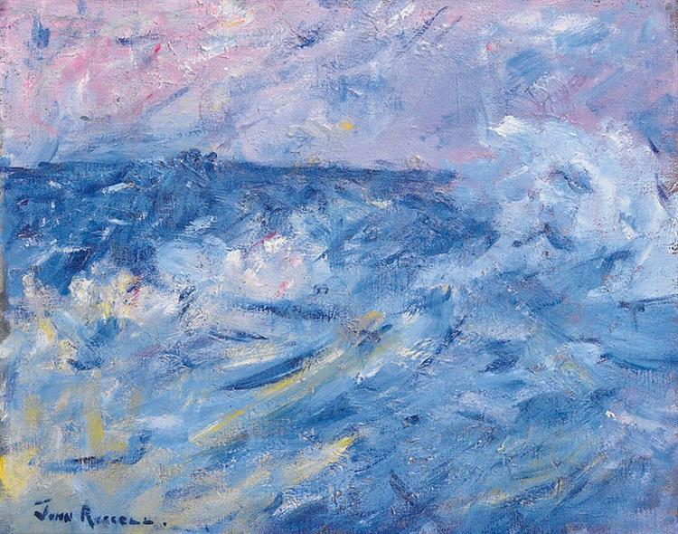 Stormy Sky and Sea, Belle Ile, off Brittany, 1890 - John Peter Russell