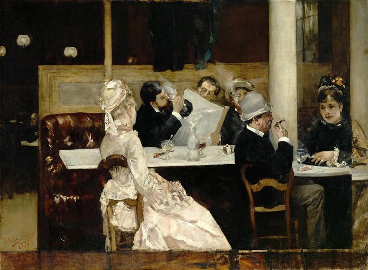 Café Scene in Paris - Henri Gervex