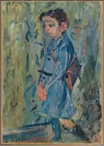 School Boy in Blue - Chaim Soutine