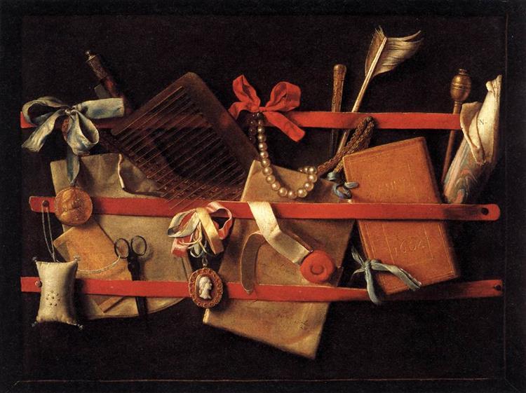 Tromp L'oeil Still Life, 1664 - Samuel van Hoogstraten