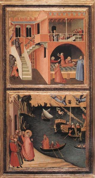 Scenes of the Life of St Nicholas, 1332 - Ambrogio Lorenzetti