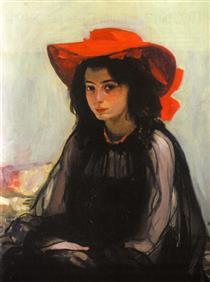 Girl in a Red Hat - Oleksandr Muraschko