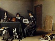 A Conversation Between An Artist and a Connoisseur - Pieter Codde