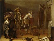 Art Lovers in a Painter's Studio - Pieter Codde