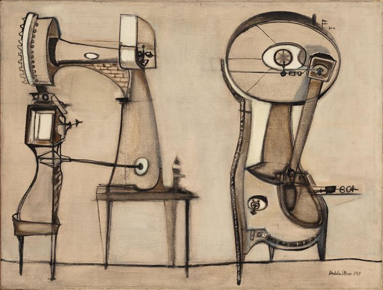 Machine (Anthropograph No. 13), 1949 - Hedda Sterne