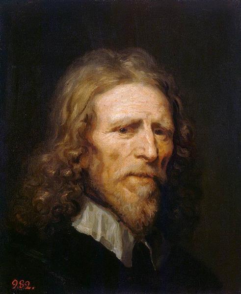 Portrait of Abraham van der Doort - William Dobson
