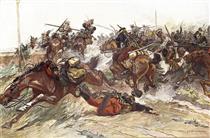 The battle of Wafangow - Mykola Samokysh