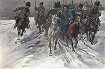 Detachment of Transbaikalian Cossacks With Translator - Mykola Samokysh