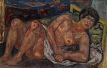Reclining Nude - Pinchus Kremegne