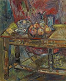 Still Life with a Table - Pinchus Kremegne