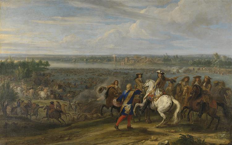 Lodewijk Xiv Trekt Bij Lobith Nederland Binnen, 1690 - Adam Frans van der Meulen