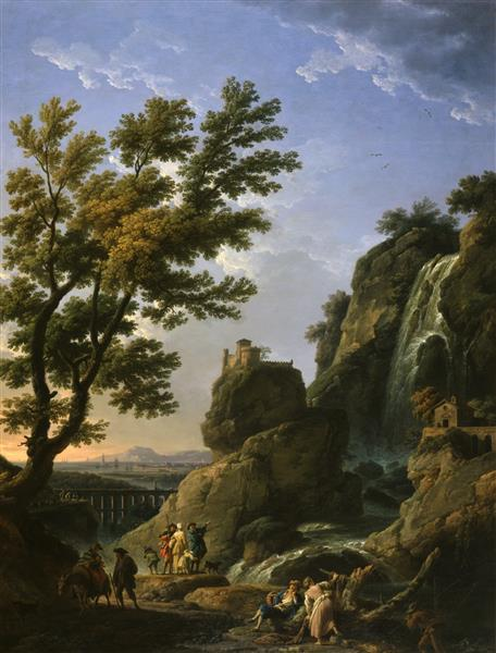 Landscape with Waterfall and Figures, 1768 - Claude-Joseph Vernet