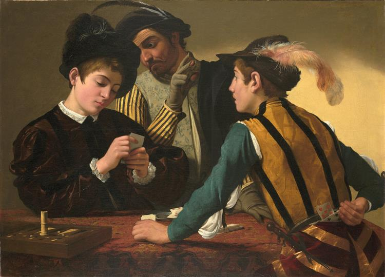 Cardsharps, c.1594 - Caravaggio