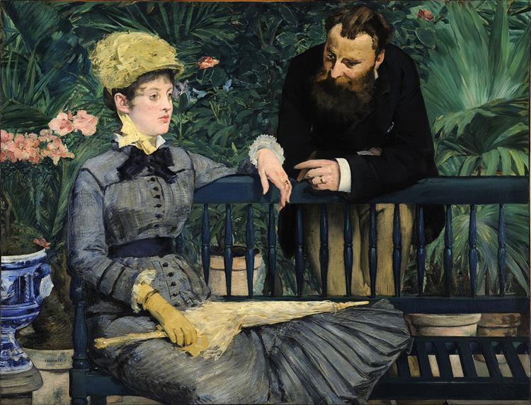 The conservatory, 1879 - Edouard Manet