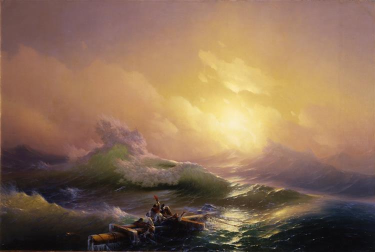 La Neuvième Vague, 1850 - Ivan Aïvazovski