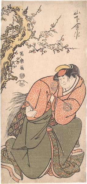 Actor Yamashita Kinsaku II as Sadato's Wife Iwate, 1794 - 1795 - Tōshūsai Sharaku