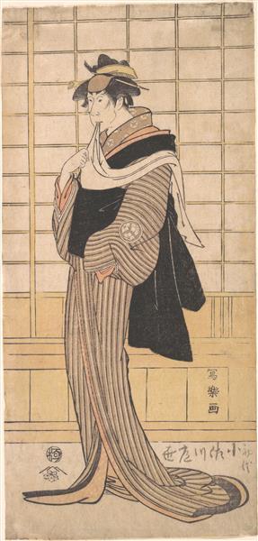 Osagawa Tsuneyo II as the hairdresser O-Roku, 1795 - Tōshūsai Sharaku