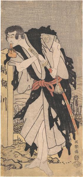 Morita Kanya VIII as Kawachi Kanja, Disguised as Genkaibo, 1795 - Tōshūsai Sharaku