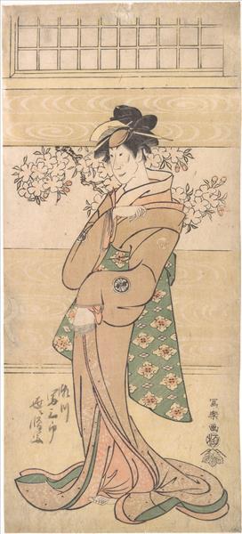Actor Segawa Tomisaburo II as the Geisha Asaka, 1795 - Tōshūsai Sharaku