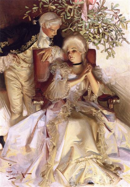 The Courtship - Frank Xavier Leyendecker