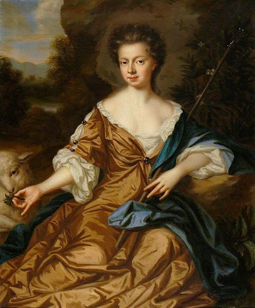 Jane Fox, Lady Leigh as a Shepherdess, c.1675 - Mary Beale