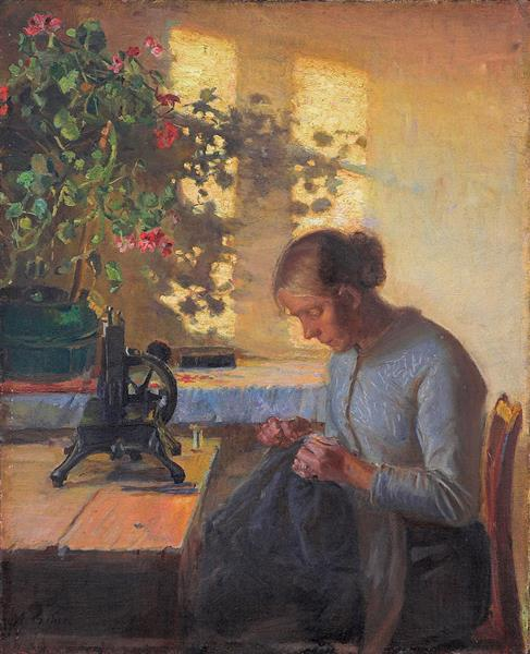 Sewing Fisherman's Wife, 1890 - Anna Ancher