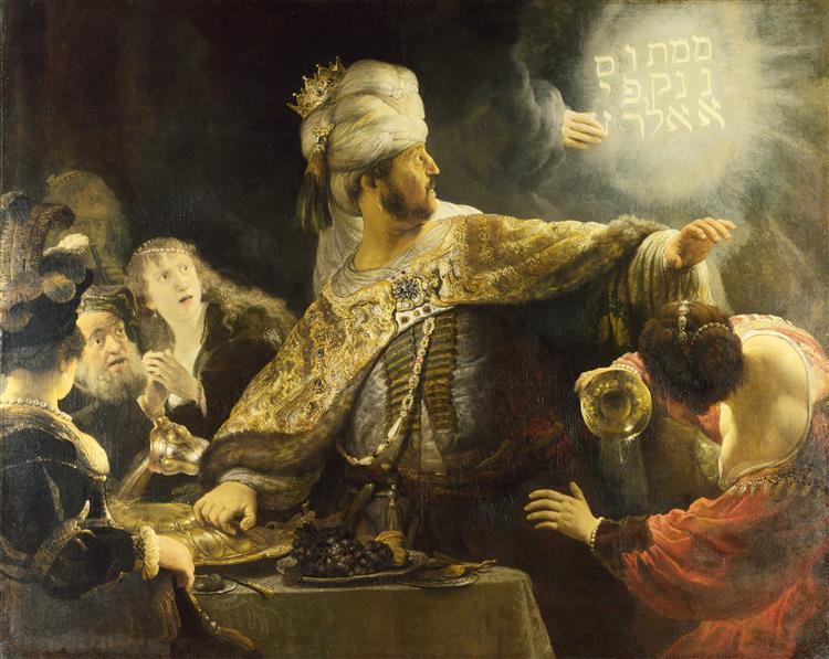 Banquete de Belsasar - Rembrandt