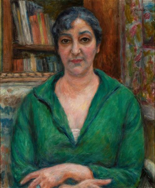 Portret Żony W Zielonym Swetrze, 1921 - Józef Pankiewicz