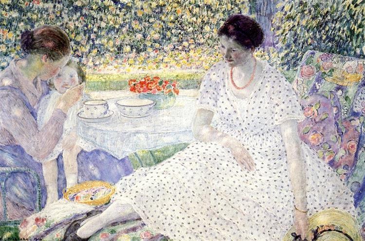 Breakfast in the Garden, 1916 - Frederick Carl Frieseke
