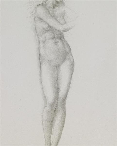 Stufy of a female nude from edward burne-jones