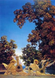 Image result for maxfield parrish