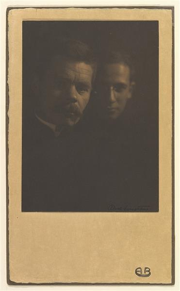 Maxim Gorky and Zena Peschkoff, His Adopted Son, c.1910 - Alice Boughton