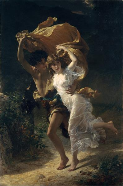 The Storm, 1880 - Pierre-Auguste Cot