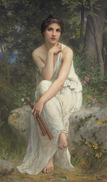 The Flute Player - Charles-Amable Lenoir