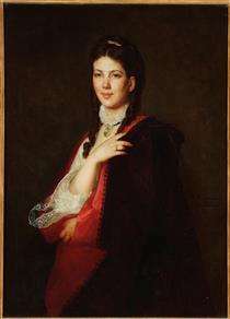 Portret Leonii Blühdorn, Pasierbicy Artysty - Henryk Rodakowski