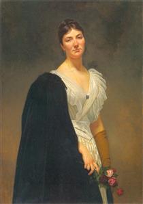 Maria Woźniakowska, Artist's Daughter - Henryk Rodakowski