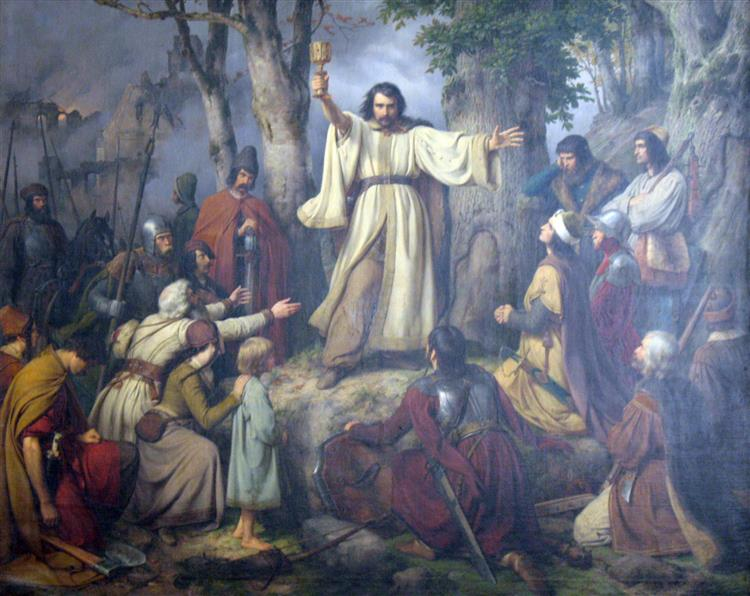 Hussite Sermon, 1836 - Karl Lessing
