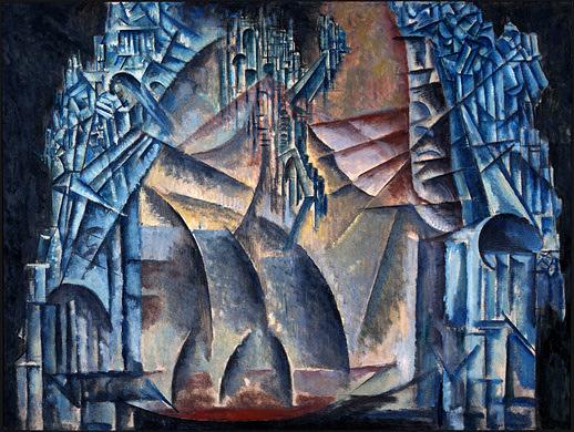 Interior of the Fourth Dimension, 1913 - Max Weber
