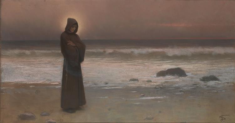 Kontemplace, Mnich na mořském břehu - Якуб Шиканедер
