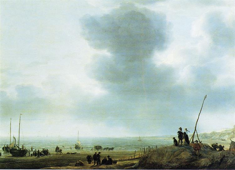 Beach View, 1643 - Simon de Vlieger