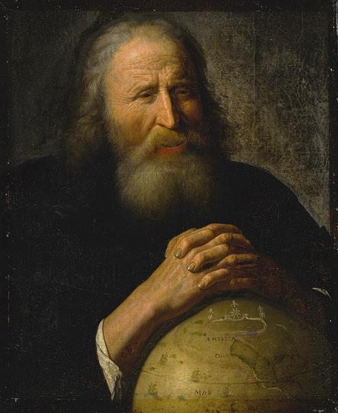 Heraclitus With A Globe - Johannes Moreelse