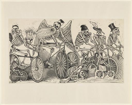 Calavera of the Cyclists, 1895 - José Guadalupe Posada