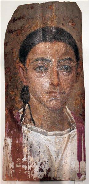 Mummy Portrait of a Young Man Anagoria - Fayum portrait