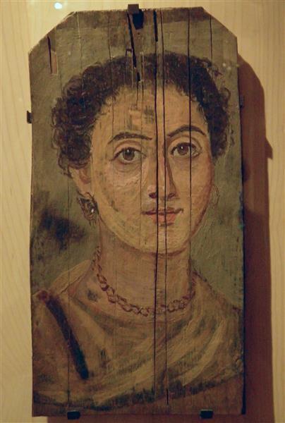 Portrait De Femme - Fayum portrait